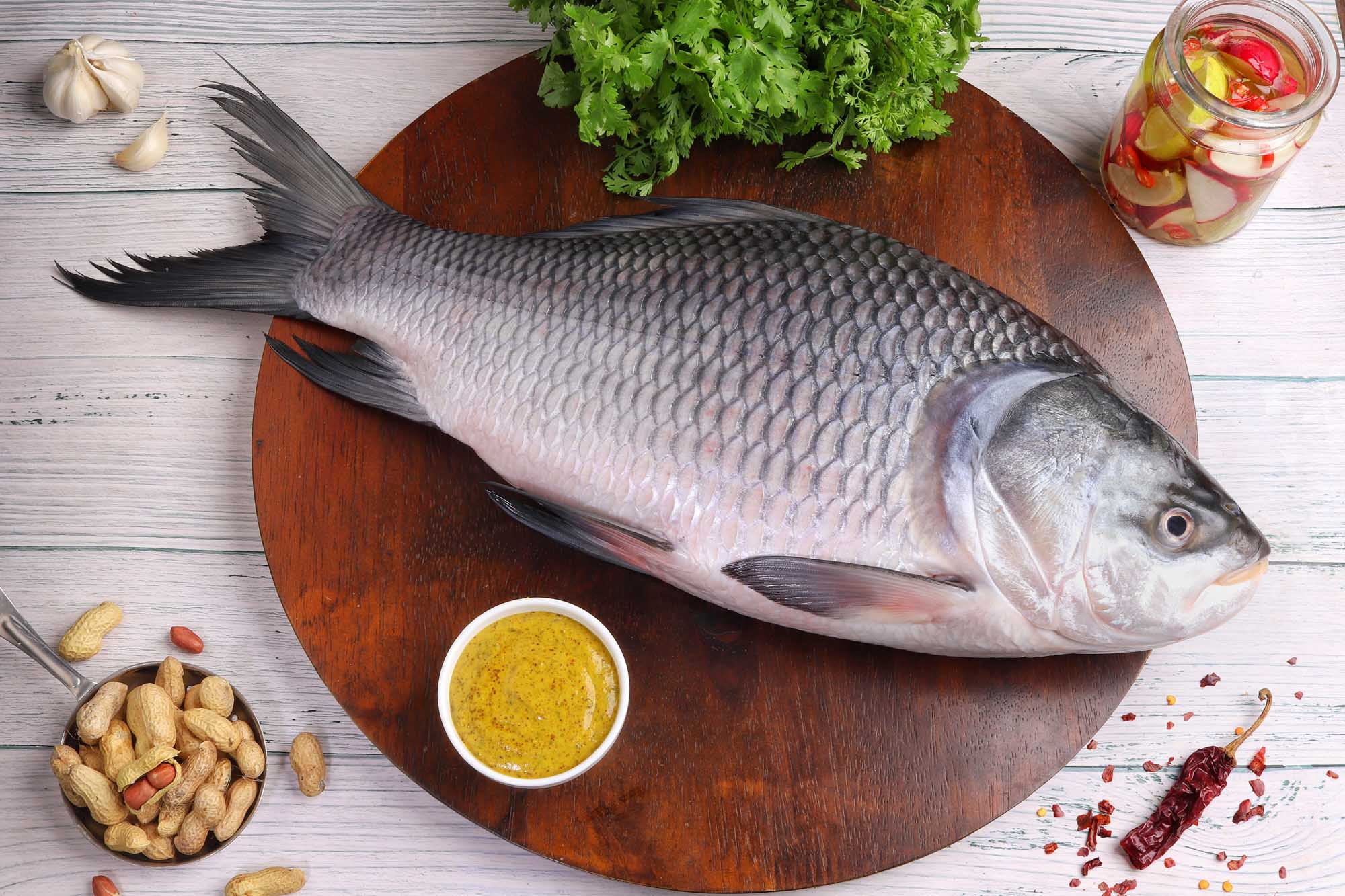 Catla Fish Whole ( Without Cut )