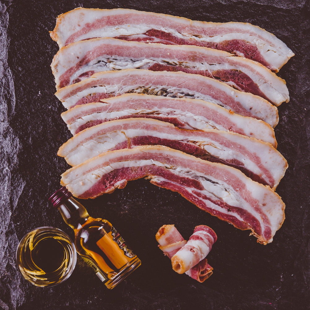 Pork Streaky Bacon Infused with Whisky